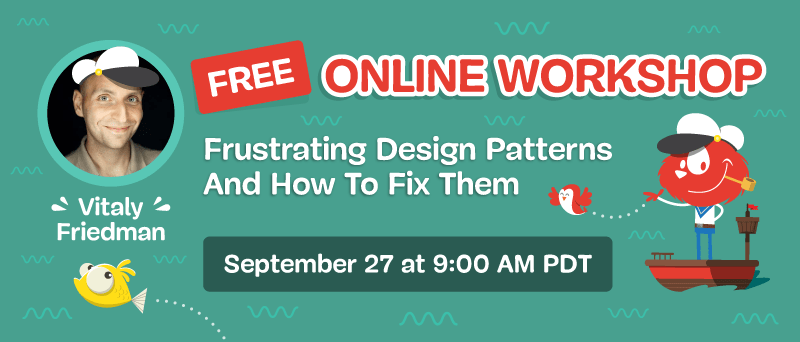 Free On-line Workshop: Irritating Design Patterns And How To Repair Them